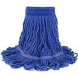 String Mop Head Fit O-Cedar Rubbermaid Heavy Duty Loop-End String Mop Refills Super Stitch Blend Large Mop Heads Replacement (Blue)