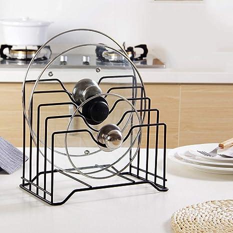 Estante organizador de cocina, estante de metal para almacenamiento, de hierro, bandeja de