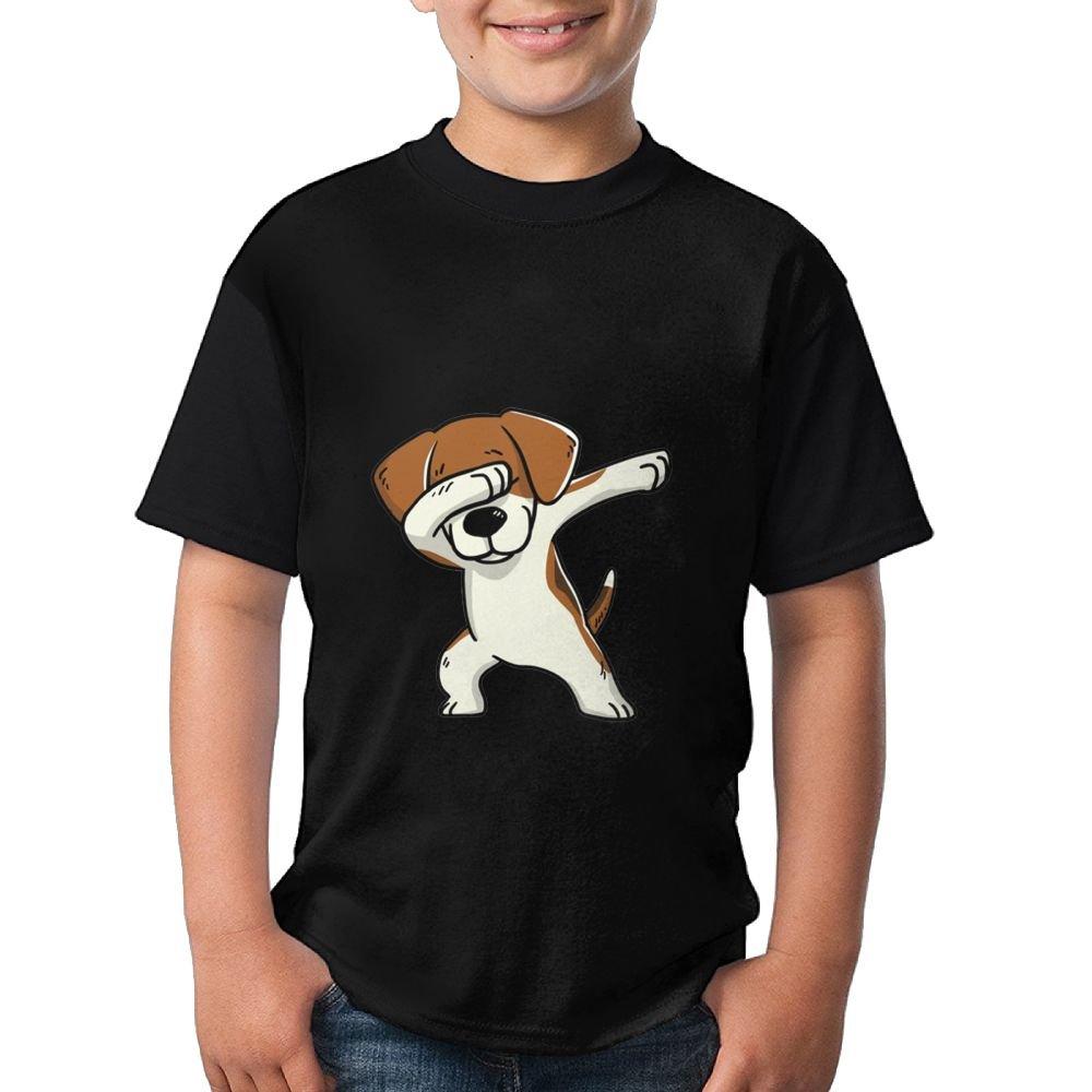 Dabbing Beagle Dog Boys Girls Casual T-Shirt 3D Printed Tee Round Tops X-Large