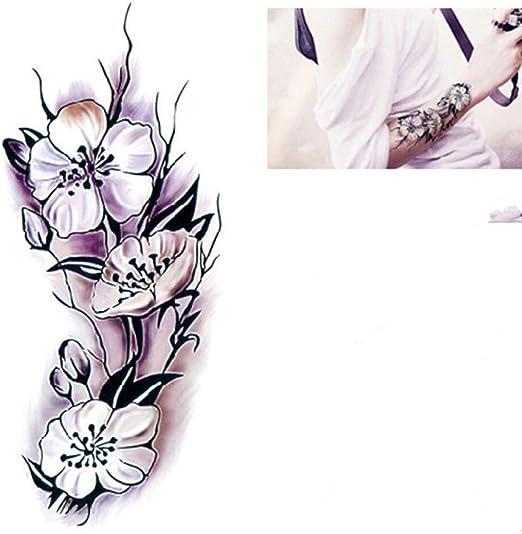 adgkitb 4 Piezas Acuarela Grande Rosa Pulsera Tatuaje Pegatinas ...