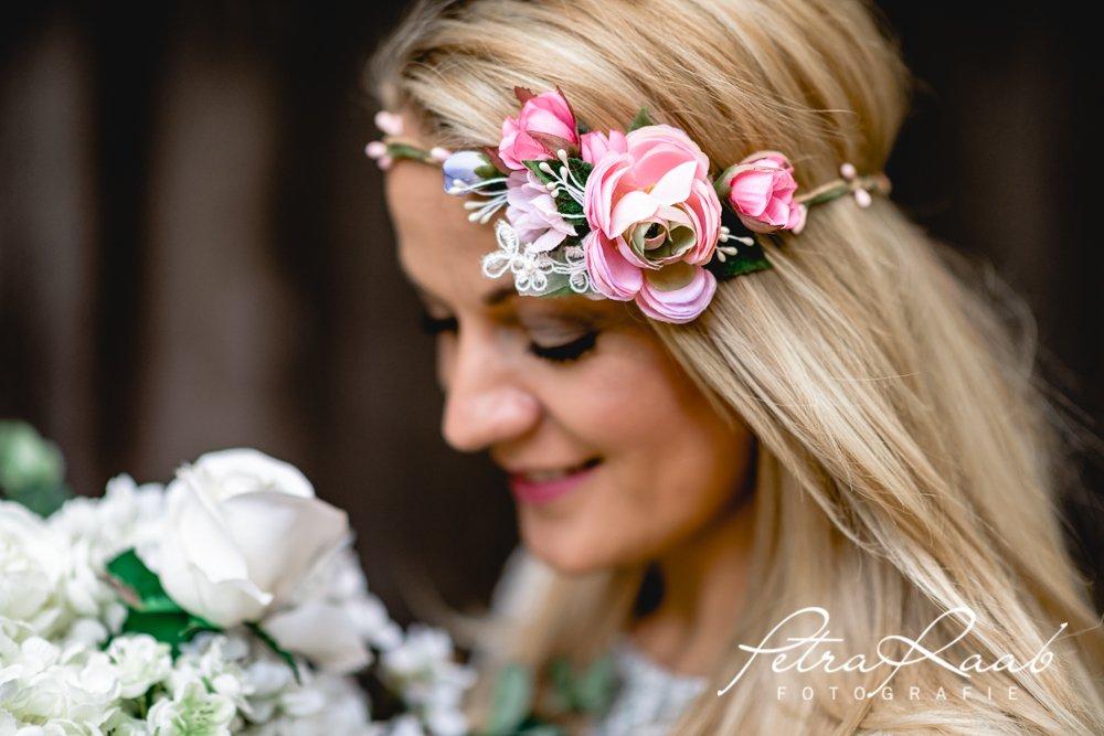 Brauthaarband Blumenkranz Bluten Diadem Braut Frisur Hochzeit Boho C7