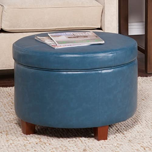 Kinfine USA Large Leatherette Storage Ottoman