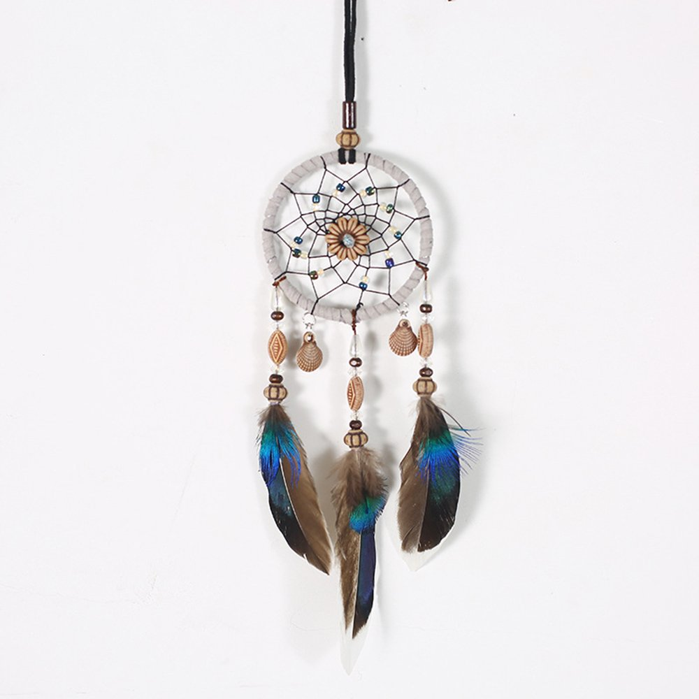 ONEVER Car Pendant Handicraft Dreamcatcher Feather Hanging Car Rearview Mirror Ornament Auto Decoration Trim Accessories For Gift