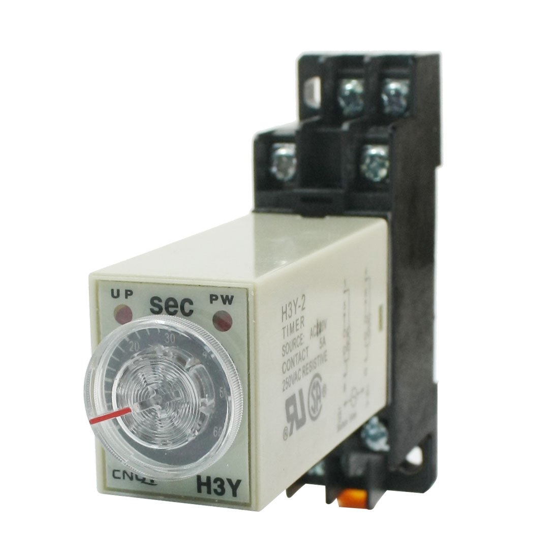 uxcell0-60 Seconds Delay Timer Time Timing Relay AC 110V H3Y-2 w Base socket a14050600ux0201
