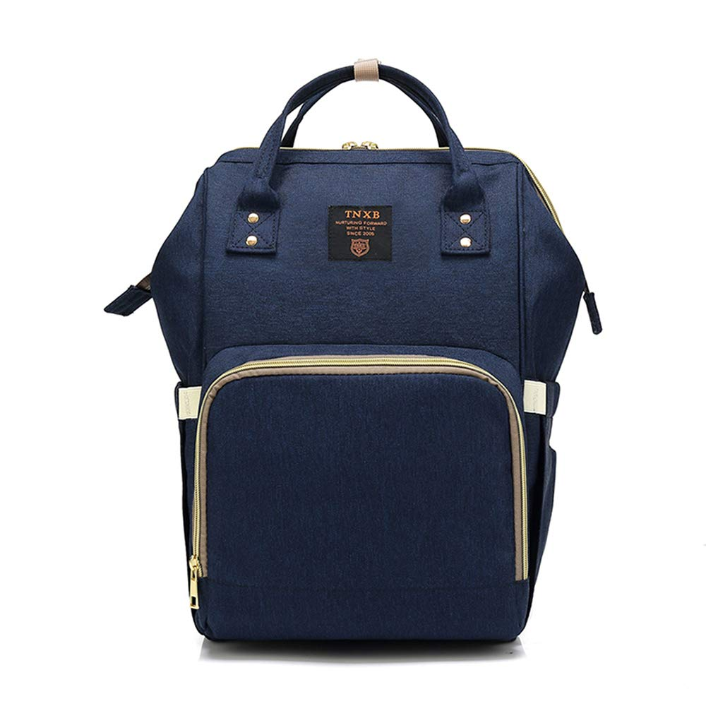 YOUXIN Diaper Bag Backpack, Waterproof Multi-functional Nappy Bags for Mommy, Dad, Large Capacity Travel Backpack for Baby Care (Dark Blue)