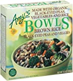 Amy's Black Eye Pea & Vegetable Bowl Organic, 9-Ounce Boxes (Pack of 12)