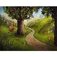 cartoon Comic forest Apple tree scene Background High-grade portrait cloth Computer printed party backdrops DD-s-2627