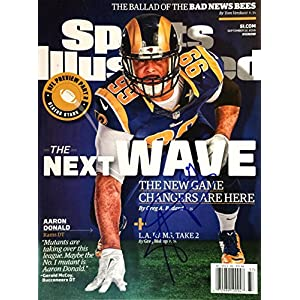 Aaron Donald LOS ANGELES RAMS autographed Sports Illustrated magazine 9/12/16