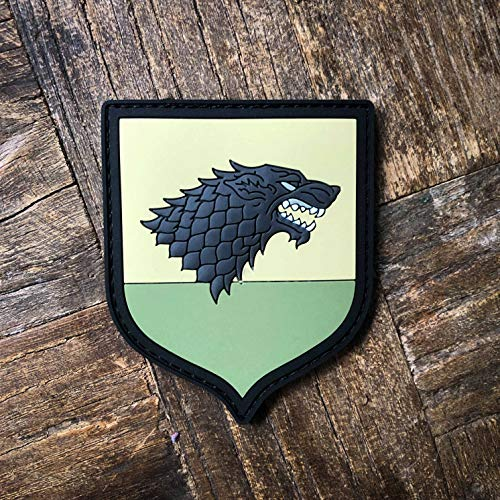 NEO Tactical Gear Game of Thrones House of Stark PVC Rubber Morale Patch - Hook Backed with Loop Attachment Piece That Can Be Sewn On by NEO Tactical