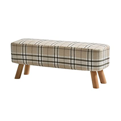 Amazon.com: LS-Stool Low Stool Fabric Sofa Stool Solid Wood ...