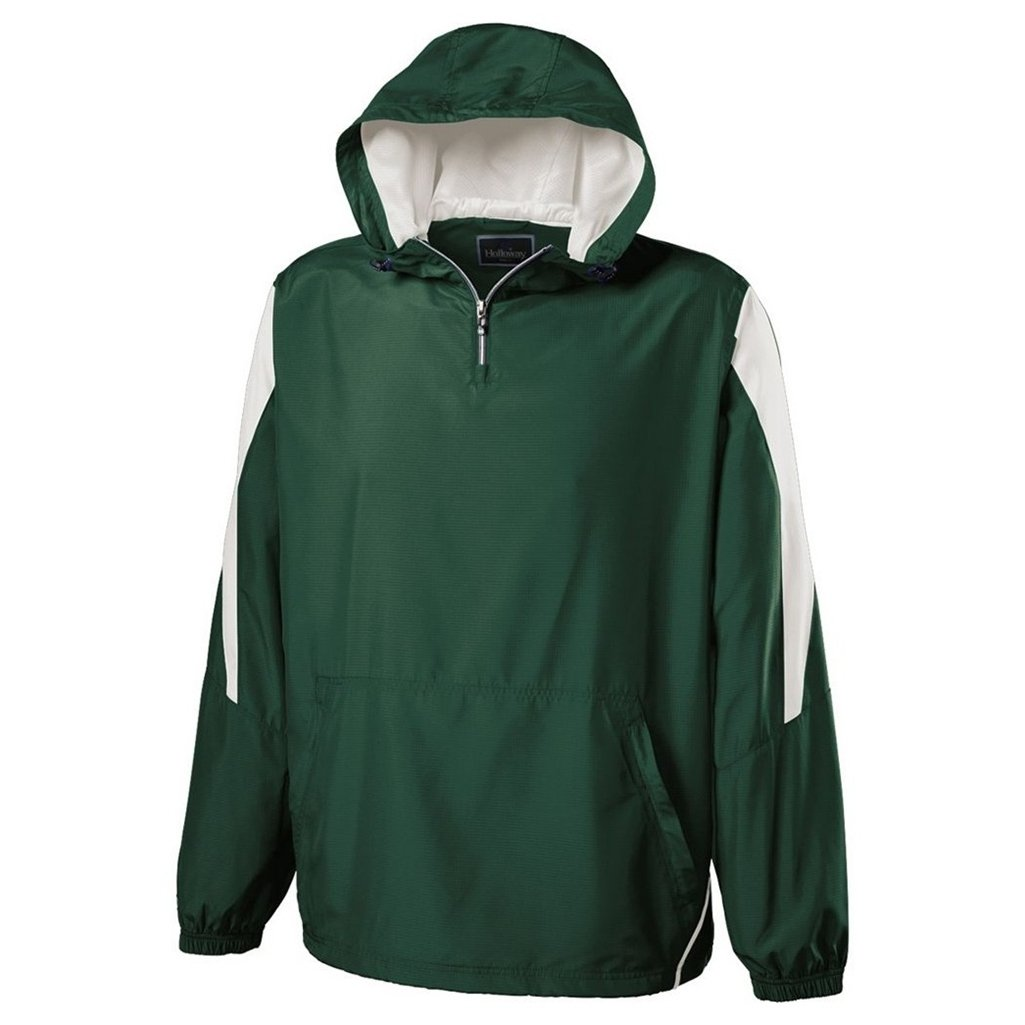Holloway Youth Commence Swif-Tec Pullover (X-Large, Forest/White) by Holloway