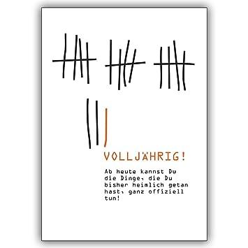 Spruch Zum 18 Geburtstag Für Karte.1 Geburtstagskarte Cooler Glückwunsch Zum 18 Geburtstag