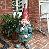Gnomes of Toad Hollow - Giant ''Zelda'' the Female Garden Gnome Statue 32''H