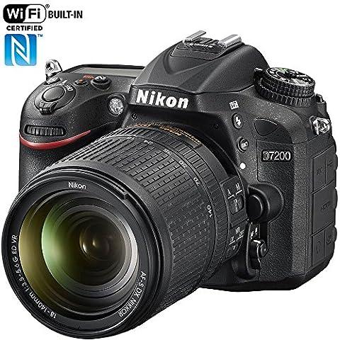 Nikon D7200 24.2 MP DX-format Digital SLR Camera with 18-140mm VR Lens (Black)(Certified (Nikon D7200 Body)