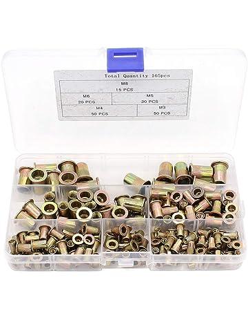 insertos roscados helicoidales de rosca helicoidal M6 x 1.0 x 2.5 D longitud inserto de reparaci/ón de roscas 50 piezas de insertos roscados SS304 de acero inoxidable