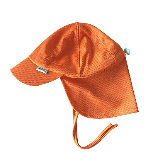 cb099f2f Amazon.com: MENGSHI Baby Kids Sun Protection Hat Breathable Swim Cap SPF 50  Orange Flap Hat: Clothing