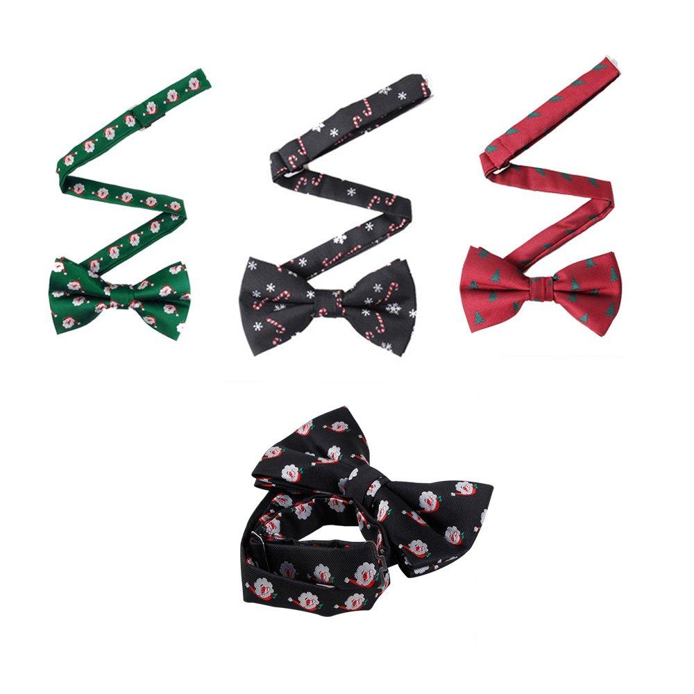AHZZY Fashion Christmas Party Men's Bow Tie Elegant Tie Boys Formal Shirt Bow KP919MZ05A76XSO16VMJ
