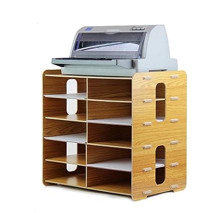 CLEAVE WAVES Mueble Archivador Organizador De Escritorio De Madera De 10 Capas Multifuncional Caja De Almacenamiento
