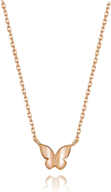 Silver Layering Necklace Minimalist Jewelry Minimalist Necklace Summer Jewelry Dainty Silver Butterfly Necklace,Small Butterfly Necklace