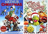 Muppets Christmas movie DVD & Arthur Christmas Operation Santa Clause Holiday Movie Set