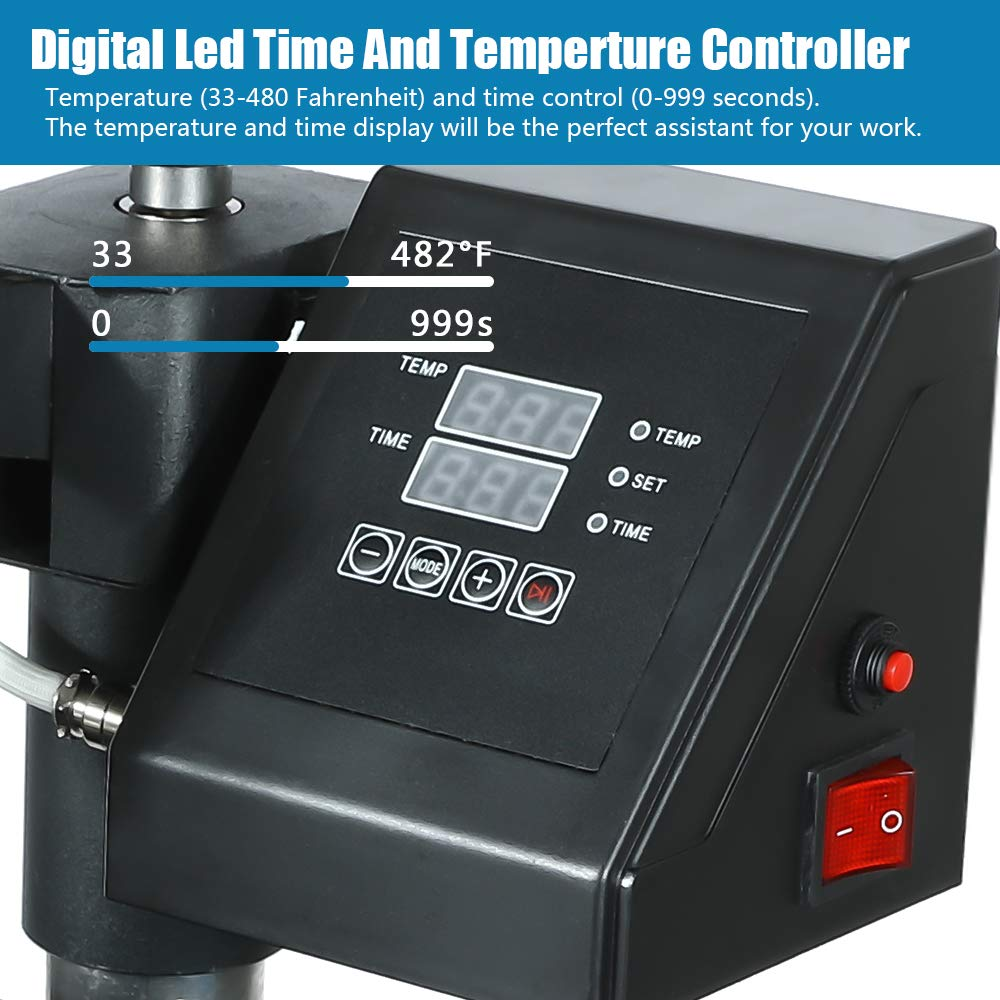 / Swing Away 8 in 1 SURPCOS 8 in 1 Heat Press Machine 12x 15 inch Professional Digital Transfer Sublimation Swing-Away for Hat Mug Plate Cap T-Shirt 12x 15
