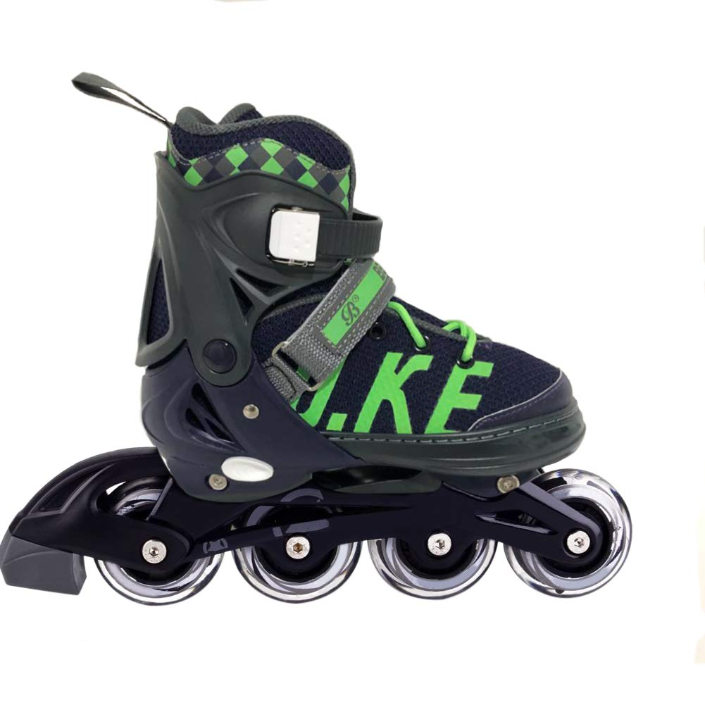 MammyGol Adjustable Inline Skates for Kids Girls Boys with Light up Wheels Size 5-8