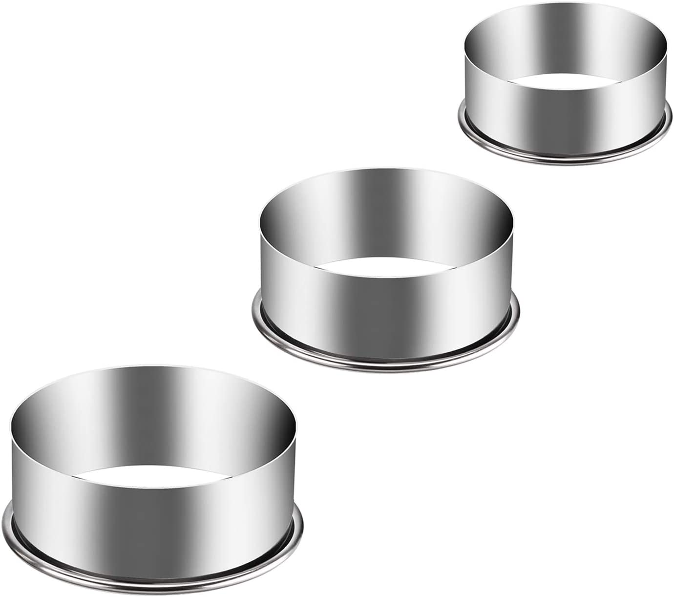 Blue 3-Piece Smooth Stainless Steel Metal Behind Play Item