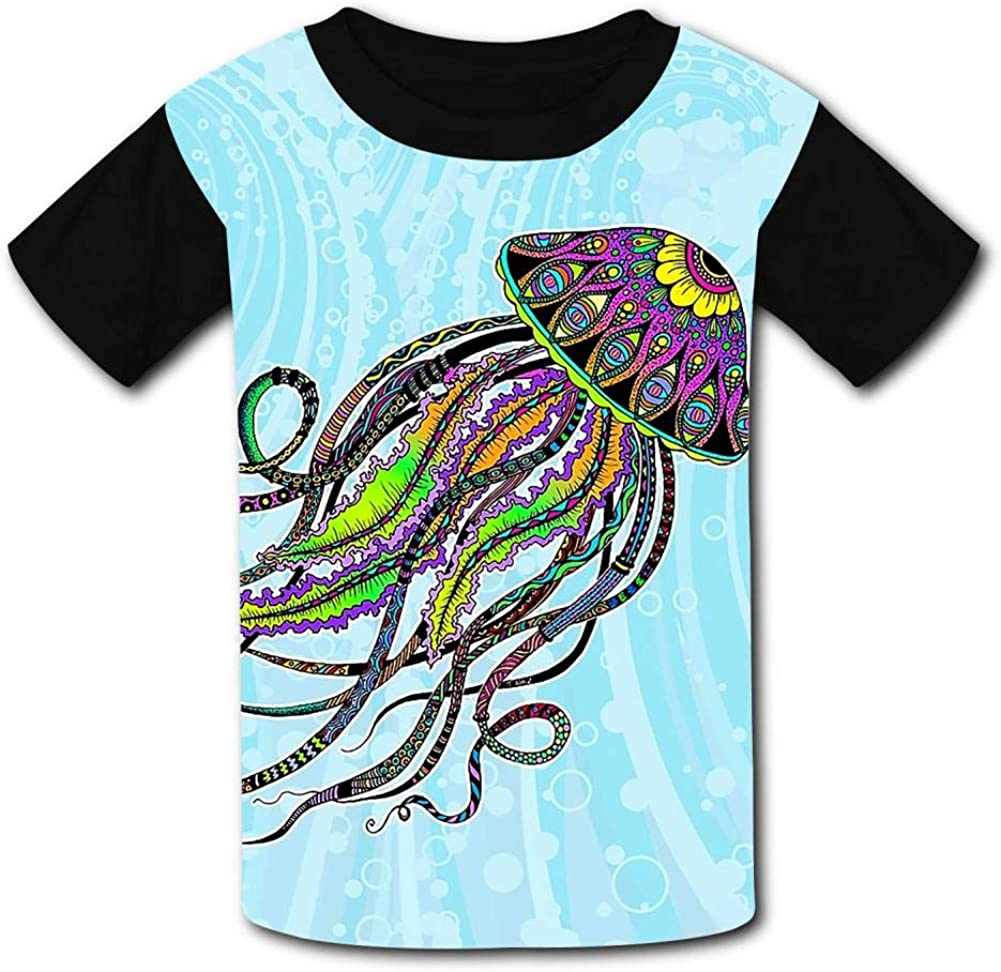 KssKsa Electric Jellyfish Youth//Kids Casual T-Shirt 3D Print Short Sleeve