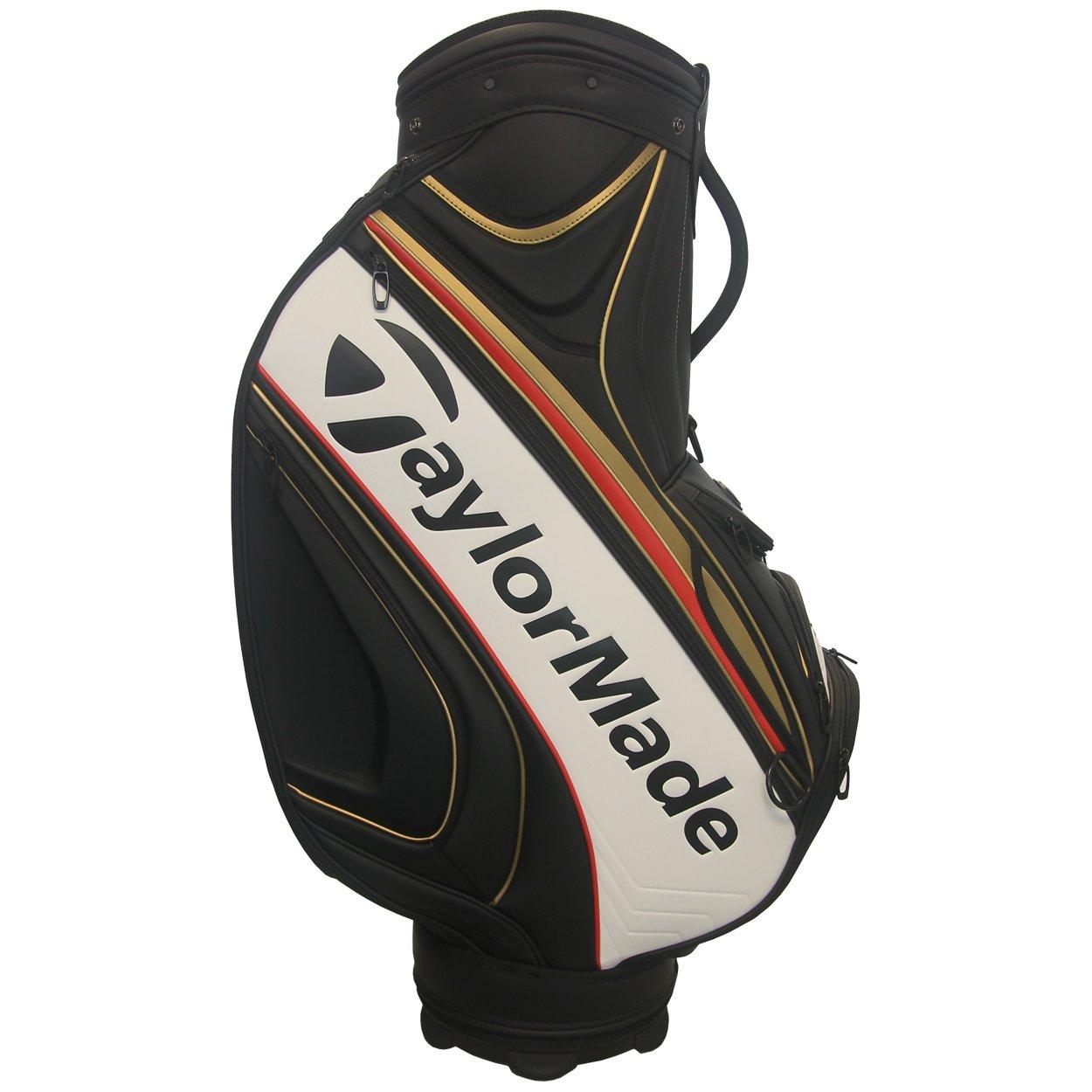 テーラーメイドゴルフツアースタッフバッグ、ブラック/ゴールド/レッド B07DXD8QCV