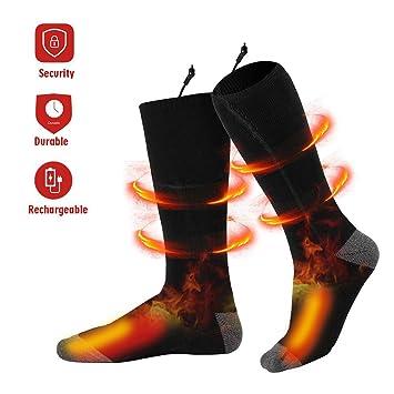 Eléctrico Calcetines Calientes Climatizada - Recargable Calcetines Térmico para Hombres y Mujer Pies Crónicamente Fríos,
