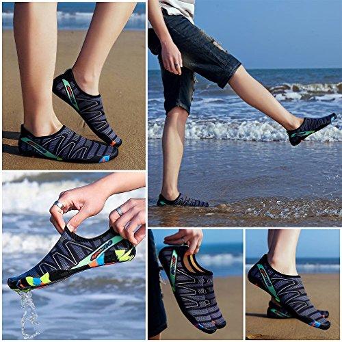 de COMVIP de la Playa rápido Descalzo Agua Zapatos Negro Secado Aguamarina la Calcetines Niños zwqzxrEv