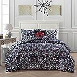 Avondale Manor Lola 5-piece Comforter Set King, Black