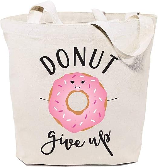 Donut Give Up - Bolsa de algodón reutilizable para alimentos y ...