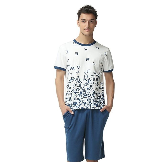 Buena calidad hombres pantalones cortos verano pijama conjunto con algodón pijama
