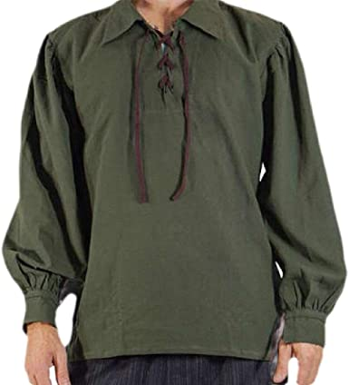 RingBong Mens Fashion Cotton Lapel Denim Long-Sleeve Button Top Tshirt Shirt