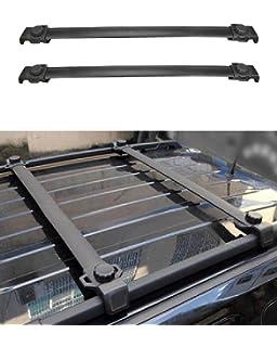 Ironwalls 2pcs Roof Racks Crossbars Cargo Load Bars Aluminum Black For Jeep Patriot 2007 2017