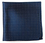 The Tie Bar 100% Woven Silk Mini Dots Classic Navy Pocket Square