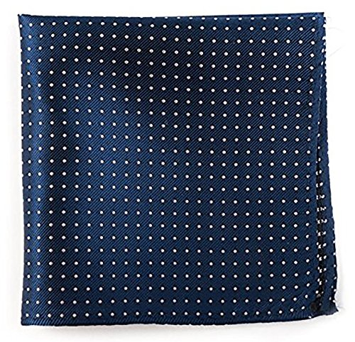The Tie Bar 100% Woven Silk Mini Dots Classic Navy Pocket Square by TheTieBar