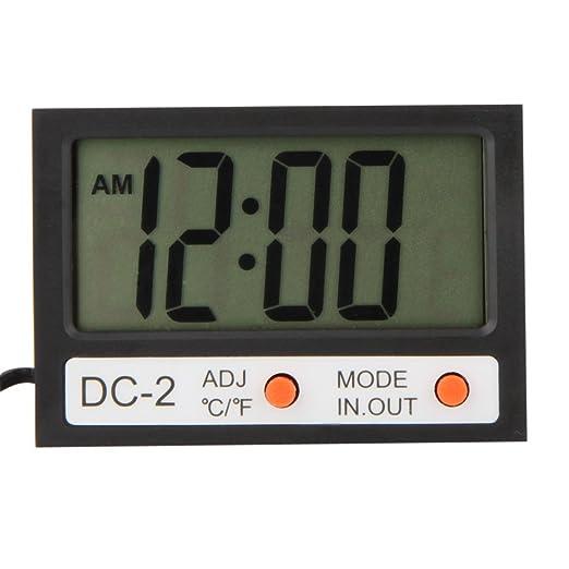 2 opinioni per KKmoon Mini Termometro digitale ℃ / ℉ tester di temperatura orologio w / con