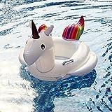 Firlar Thicker PVC Kids Inflatable Unicorn Float Swimming Pool Sea Beach Toy Children