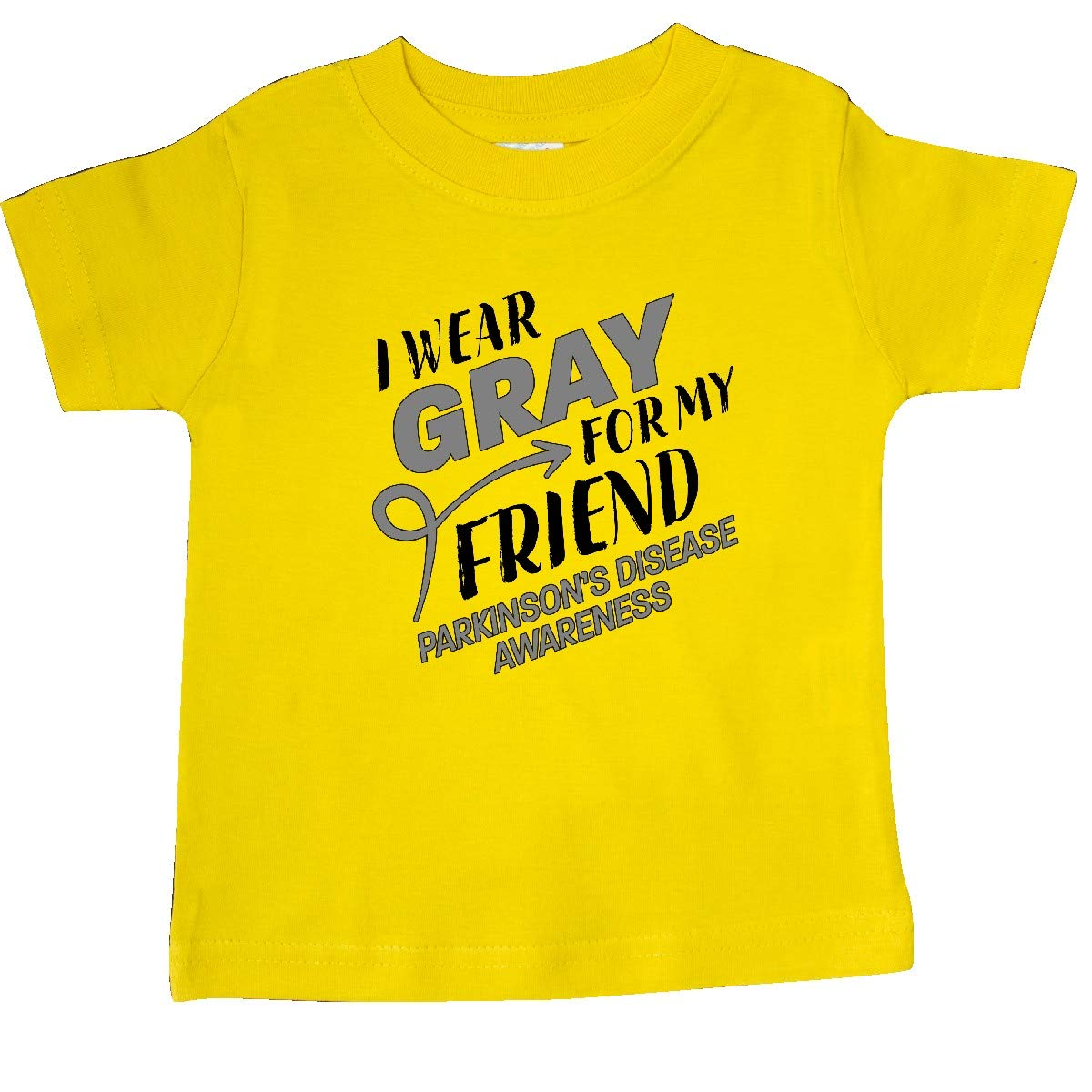 inktastic I Wear Gray for My Friend Parkinsons Disease Awareness Baby T-Shirt