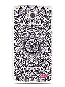 GR?V Premium Case - 'Creative Artistic Art Pattern : Intricate Indian Henna Tattoo Mosaic Mandala' Design - Best Quality Designer Print on White Hard Cover - for LG Optimus L70 W5 D320 D325 MS323 VS450PP