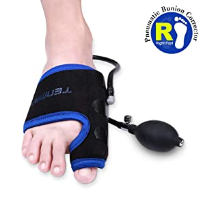 TENMAND Adjustable Pneumatic Bunion Splints & Toe Straightener & Orthopedic Bunion Corrector, Effective Treatment of Hallux Valgus, Bunion and Hammer Toe with Splint Aid Treatment for Men and Women(R)
