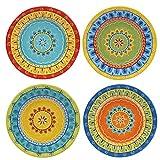 "Certified International 14177SET/4 Valencia Dessert Plates (Set of 4), 8.75"", Multicolor"