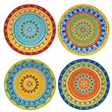 Certified International Valencia Dessert Plates (Set of 4), 8.75'', Multicolor