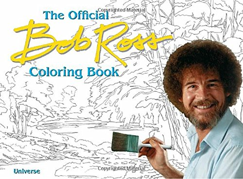 The Bob Ross Coloring Book cover