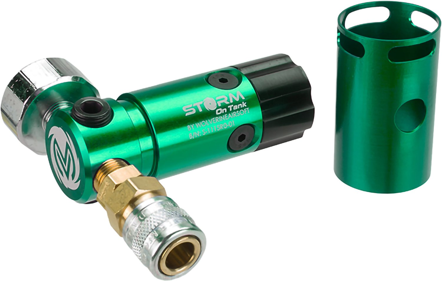 Evike Wolverine Airsoft Storm HPA On-Tank Regulator (Color: Regulator Only/Green) by Evike