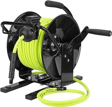 ZillaGreen Flexzilla Manual Open Face Air Hose Reel Hybrid ...
