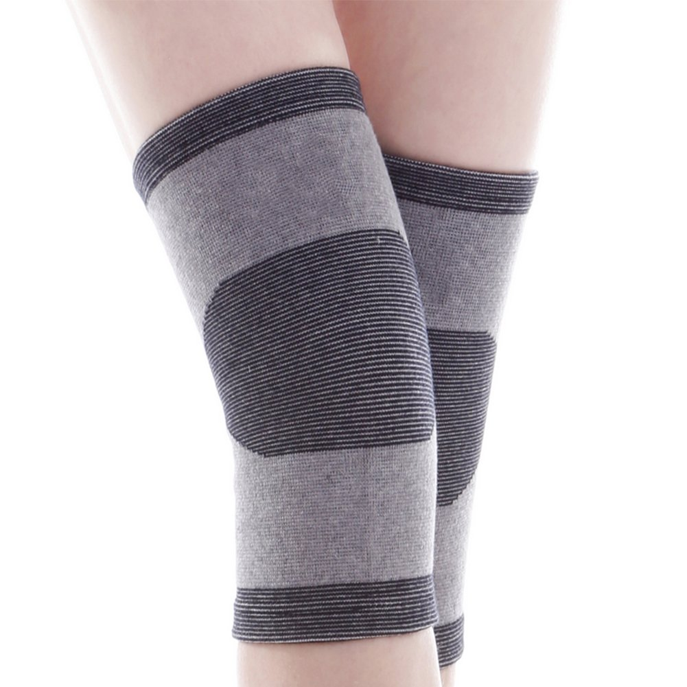 CHUANGLI 1 Pair Breathable Neoprene Bamboo Charcoal Knee Brace Support Sleeve Warmers Arthritis S