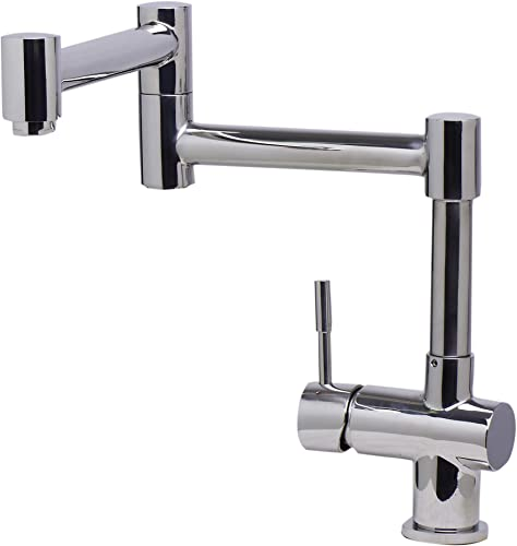 Alfi AB2038-PSS Polished Finish Solid Stainless Steel Retractable Faucet, Silver Pewter